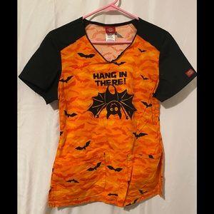 Women's Dickies Size Small Halloween Scrub Top